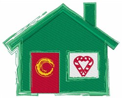 Holiday House embroidery design
