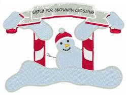Snowmen Crossing embroidery design