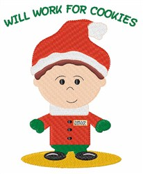 Santas Elf embroidery design