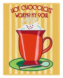 Hot Chocolate Warms embroidery design