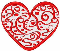 Valentine Swirl Heart embroidery design