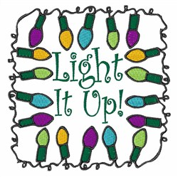 Light It Up embroidery design