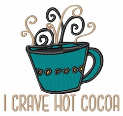 Hot Cocoa embroidery design