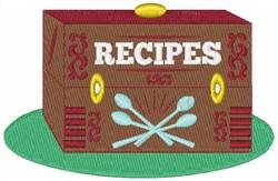 Recipe Box embroidery design