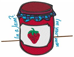 In A Jam embroidery design