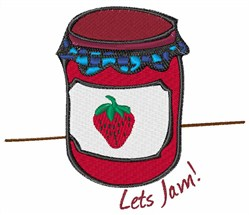 Lets Jam embroidery design