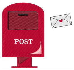 Post Office Box embroidery design