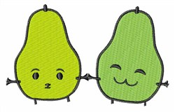 Silly Pears embroidery design