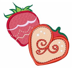 Strawberry Slice embroidery design