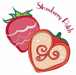Strawberry Patch embroidery design