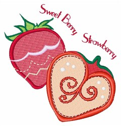 Sweet Berry Strawberry embroidery design