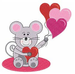 Mouse And Balloons embroidery design