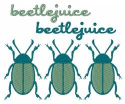 Beetlejuice embroidery design