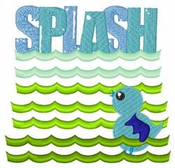 Splash embroidery design