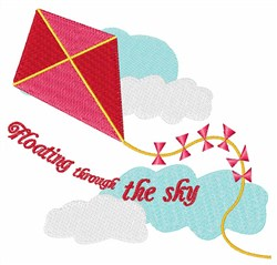 Floating Through The Sky embroidery design