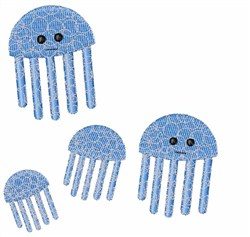 Jelly Fish embroidery design