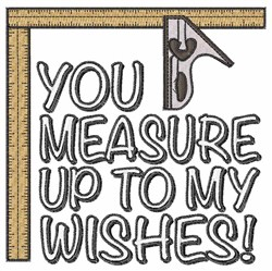 Measure Wishes embroidery design