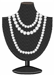 Pearl Necklace embroidery design