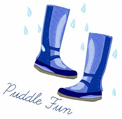 Puddle Fun embroidery design