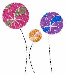 Flower Circles embroidery design