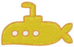 Submarine Boat embroidery design