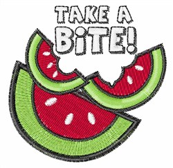 Take a Bite embroidery design