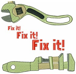 Fix It embroidery design