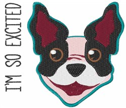 Excited Puppy embroidery design
