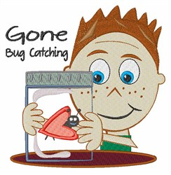 Gone Bug Catching embroidery design