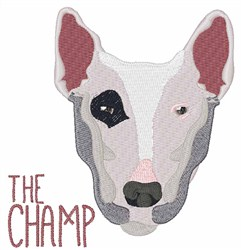 The Champ embroidery design