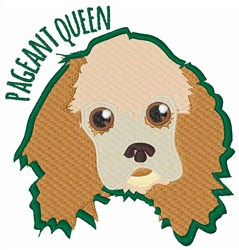 Pageant Queen embroidery design