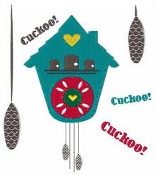 Cuckoo Clock embroidery design