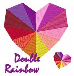 Double Rainbow Heart embroidery design