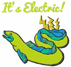 Its Electric embroidery design