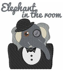 Elephant In Room embroidery design