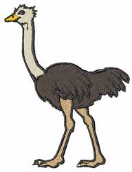 Ostrich embroidery design
