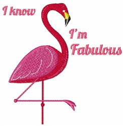 Im Fabulous embroidery design