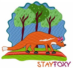 Stay Foxy embroidery design