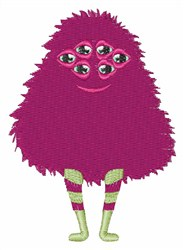 Purple Monster embroidery design