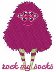 Rock My Socks embroidery design