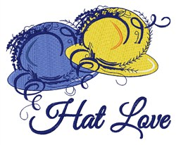 Hat Love embroidery design