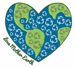 Love Mother Earth embroidery design