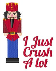 Crush A Lot embroidery design