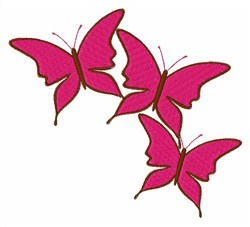 Pink Butterflies embroidery design