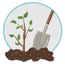Tree Planting embroidery design