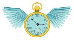Flying Time embroidery design