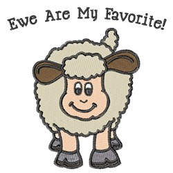 Ewe Are My Favorite embroidery design