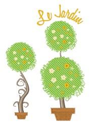 Le Jardin embroidery design