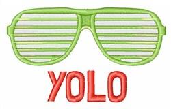 Yolo embroidery design