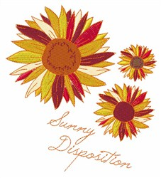 Sunny Disposition embroidery design